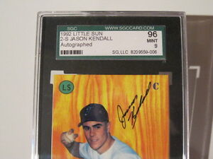 GRADED Jason Kendall - Signed Auto 1992 Little Sun London Ontario image 3