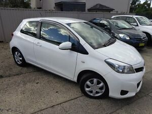 2013 Toyota Yaris NCP130R YR White 4 Speed Automatic Hatchback Sylvania Sutherland Area Preview