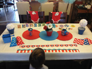 Shower Birthday Decorations Thing 1&2 Dr Seuss Sarnia Sarnia Area image 2