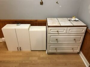 Free - 3 White Cabinets in Good Condition