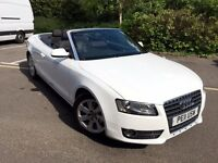 2011 AUDI A5 CONVERTIBLE TFSI CABRIOLET WHITE LOW MILEAGE 66K FULL SERVICE HPI CLEAR