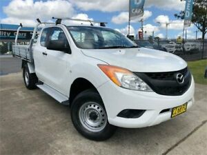 2012 Mazda BT-50 UP0YF1 XT Freestyle 4x2 Hi-Rider White 6 Speed Manual Cab Chassis Mulgrave Hawkesbury Area Preview