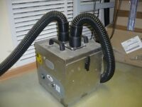 Purex Fume Cube 2 arm, Hoses, Stainless Steel Nozzle and Brackets Fume Extraction, Solder.