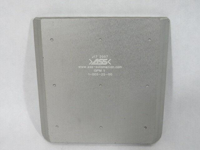 ASS Maschinenbau GPM-1 1-005-25-00 EOAT Base Plate Option 2 USED