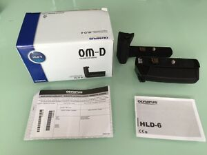 Olympus HLD-6 battery holder and grip plus extra batteries