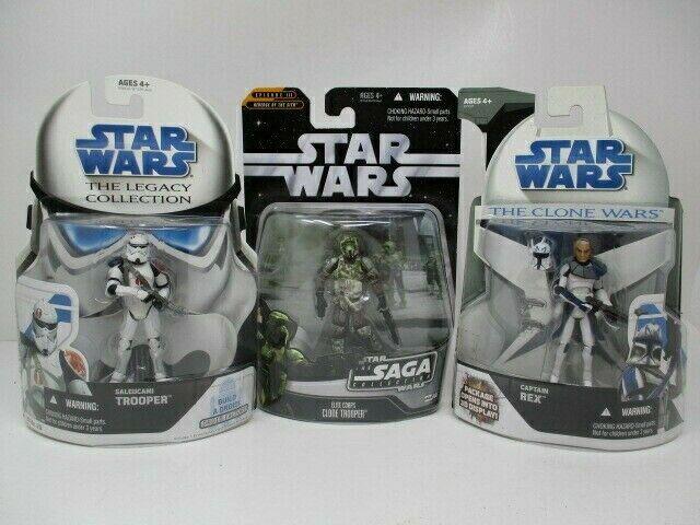 Hasbro Star Wars Mixed  Lot Of 3 Capt Rex, Saleucami & Clone Troopers
