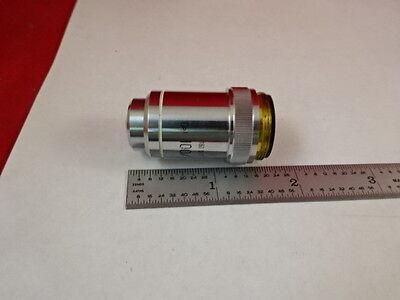 Microscope Part Will Wetzlar Germany Objective Lens 100x Optics As Is Bd2-b-16