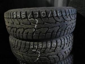 245/70 R16 HANKOOK RW11 WINTER I*PIKE TIRES USED SNOW TIRES (PAIR OF 2 - $140.00 for both) - APPROX. 85% TREAD
