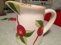 Home Kitchen Decor-Artist Signed  Pitcher Hand Painted.