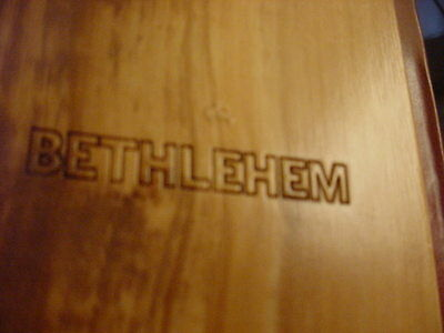 $ALE BETHLEHEM WOOD COVERED KING JAMES PERSONAL GIFT BIBLE