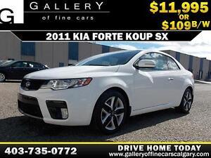 2011 Kia Forte Koup SX $109 bi-weekly APPLY NOW DRIVE NOW