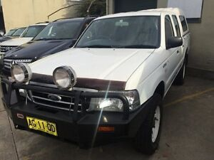 2005 Ford Courier PH (Upgrade) GL Crew Cab White 5 Speed Manual Utility Croydon Burwood Area Preview