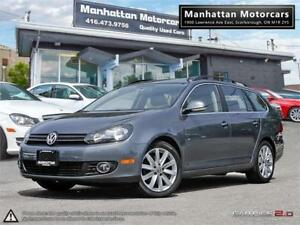 2012 VOLKSWAGEN GOLF WAGON HIGHLINE TDI DIESEL |PANOROOF|LEATHER