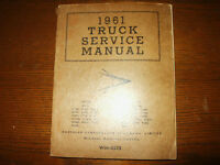 1961 Dodge Truck Shop Service Manual Supplement