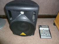 Behringer PA system - Powered speaker and mixer