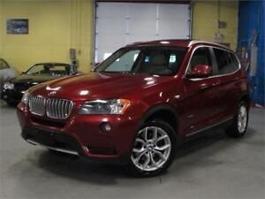 2014 BMW X3 xDrive28i/BACK UP 360 CAM/PANO ROOF/ACCIDENT FREE