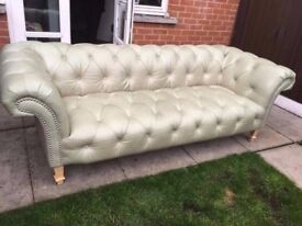 Chesterfield button seat sofa 3 seater