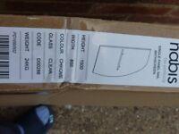 Nabis Sail Bath Screen With Towel rail