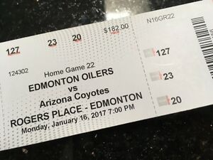 Oilers vs Coyotees and parking pass
