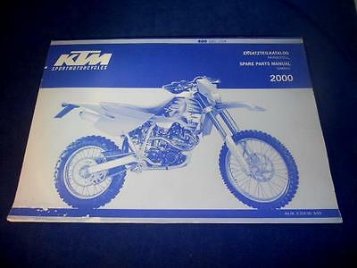 KTM Spare Parts Manual Chassis 2000 400 SXC USA Chassis