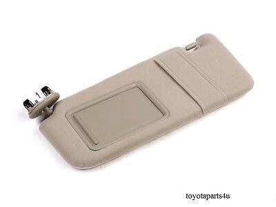 Toyota Camry 2007-2011 New Tan Drivers Side Sun Visor With Sunroof