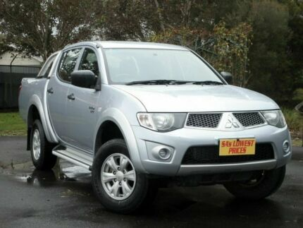 2011 Mitsubishi Triton MN MY12 GL-R Double Cab Silver 4 Speed Automatic Utility Melrose Park Mitcham Area Preview