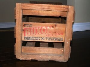 1940s-50s BUXOM MELONS CRATE BOX Rare Full Size NOT MINIATURE Kitchener / Waterloo Kitchener Area image 2