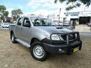 2014 Toyota Hilux KUN26R MY14 SR (4x4) Silver 5 Speed Automatic Dual Cab Pick-up Belconnen Belconnen Area Preview