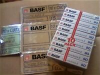 NEW SEALED BASF CHROME EXTRA II 90 1988-1989 CASSETTE TAPES PRICED TO BE CHEAPEST ONLINE