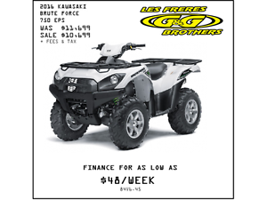 2016 BRUTE FORCE 750i EPS NOW $10,599 NO CHARGE 1ST SERVICE