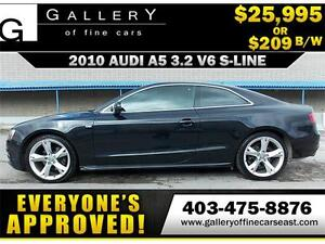2010 Audi A5 3.2 V6 S-LINE $209 bi-weekly APPLY NOW DRIVE NOW