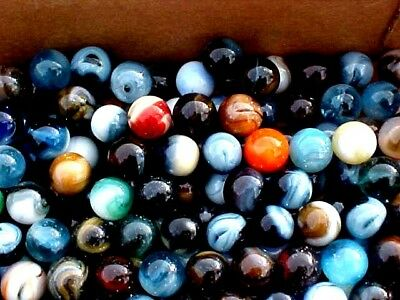 20  POUND CASE   OF JABO CLASSICS 5/8 IN ( +or-)  MARBLES $62.99 POSTPAID  !!