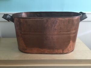 Vintage Copper planter - tub - decorative piece