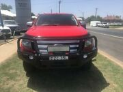 2014 Ford Ranger PX XLS 3.2 (4x4) Red 6 Speed Manual Dual Cab Utility Young Young Area Preview