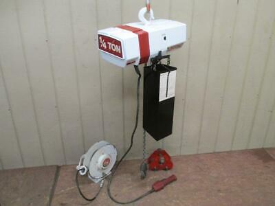 Coffing Ec-0516-3 Electric Chain Hoist Wtrolley 14 Ton 500 Lbs 45 Ft. Lift