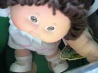 "16"" BROWN PIGTAILS/BR EYE CABBAGE PATCH KID DOLL,TOOTH,NIB,CERT"