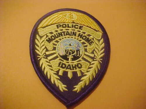 MOUNTAIN HOME IDAHO POLICE PATCH NEW  4 X 2 3/4 INCH
