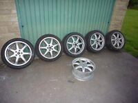 """Alloy wheels 18"""" 7 spoke from A8 Sport fit Audi / VW / VW Van"""