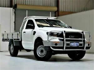 2016 Ford Ranger PX MkII XL 4x2 Hi-Rider White 6 Speed Sports Automatic Cab Chassis