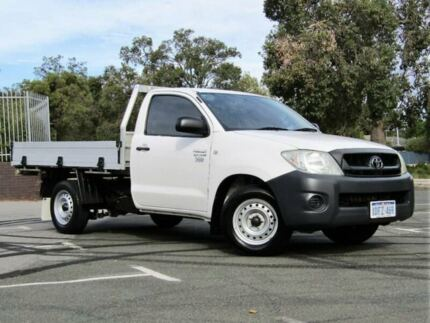 2009 Toyota Hilux TGN16R MY09 Workmate White 5 Speed Manual Cab Chassis