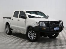 2011 Toyota Hilux KUN26R MY11 Upgrade SR (4x4) White 5 Speed Manual Dual Cab Pick-up Atwell Cockburn Area Preview