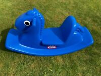 Little Tikes Blue Rocking Horse - Perfect Garden Toy for toddlers- Excellent Condition