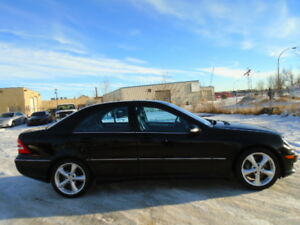 SOLD----2005 MERCEDES-BENZ C 230K SPORT-SUNROOF-LEATHER--6 SPEED