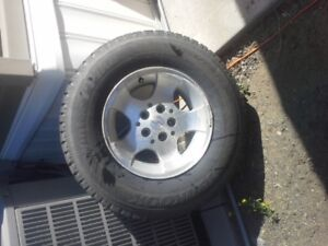 """4 Jeep Wrangler rims and 4 Hankook Studded Winter tires 15"""""""