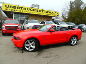 2012 Ford Mustang GT 5.0 V8/AutoConvertible/ Leather/ HTD Seats