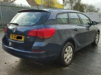 VAUXHALL ASTRA J./MK6 ESTATE TAILGATE IN BLUE WITH THE GLASS 2011
