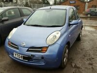 NISSAN MICRA 1.3 2004-2008 BREAKING FOR SPARES TEL 07814971951 HAVE FEW IN STOCK