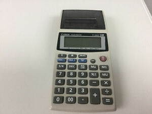Calculator with optional printer