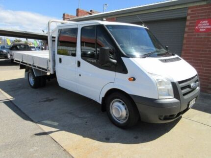 2010 Ford Transit VM MY08 Extended Frame White 6 Speed Manual Crew Cab Chassis
