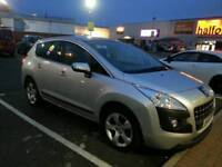 2010 silver peugeot 3008,crossover 1.6 hdi diesel